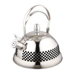 """Чайник со свистком """"Bayerhoff"""", BH-424 2,7 л. металлик (терморисунок)"""