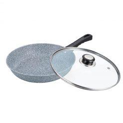 """Сковорода с антипригарным покрытием non-stick под мрамор """"Bayerhoff"""", BH-567 24 см"""