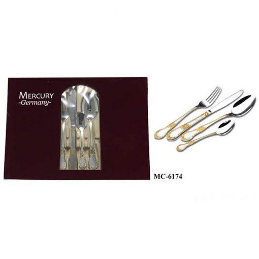 """Столовый набор 24 пр. """"Mercury"""", MC-6174, бордовый бархат"""