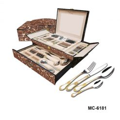 """Столовый набор 72 пр. """"Mercury"""", MC-6181, светло-коричневый мрамор"""
