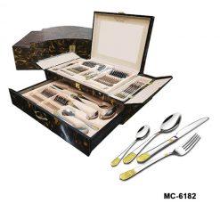 """Столовый набор 72 пр. """"Mercury"""", MC-6182 """"Версаче"""", темно-коричневый мрамор"""