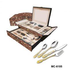 """Столовый набор 72 пр. """"Mercury"""", MC-6185 """"Герб новый"""", светло-коричневый мрамор"""