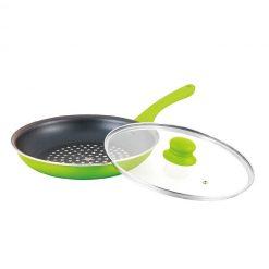 """Сковорода """"Mercury"""", MC-6256 24 см с крышкой, зеленая"""