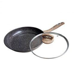 "Сковорода с антипригарным покрытием non-stick под мрамор ""Mercury"", MC-6345 24 см"